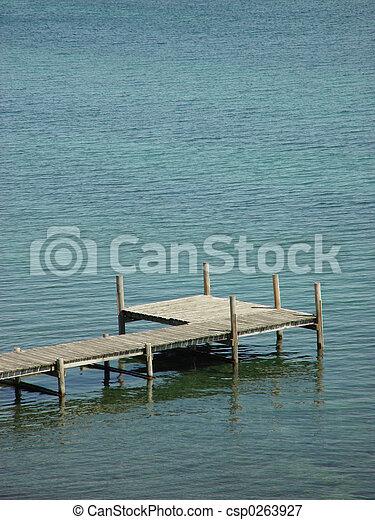 Pier in water - csp0263927