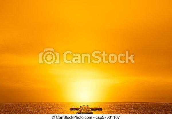 Pier into the summer sun - csp57601167