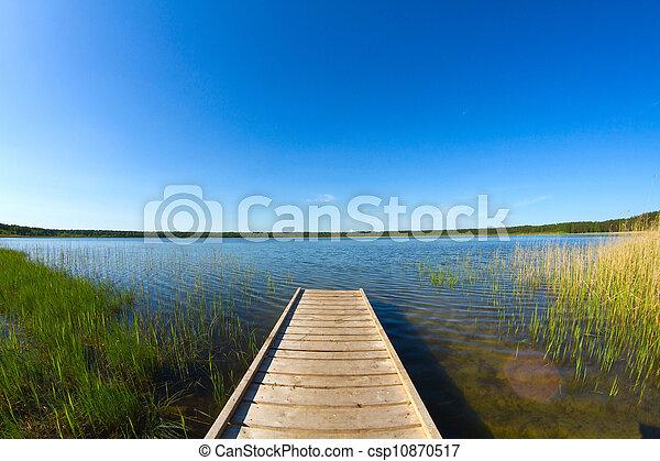 pier on the lake - csp10870517