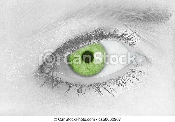 Piercing Green Eye 2 - csp0662967