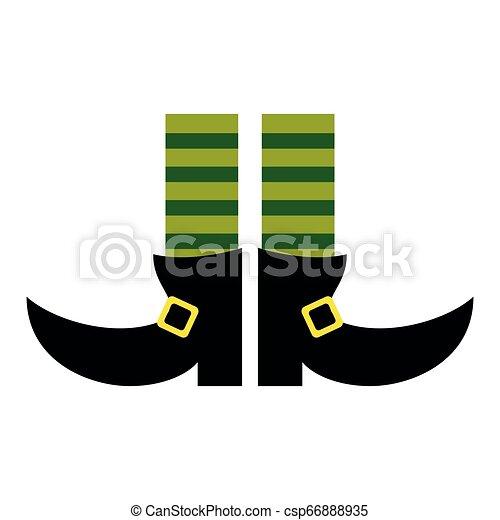 Botas de piernas de elfo con calcetines - csp66888935