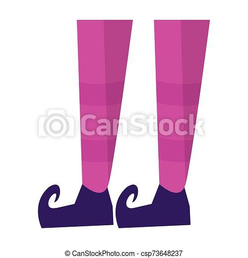 piernas, halloween, duende, shoes, calcetines - csp73648237
