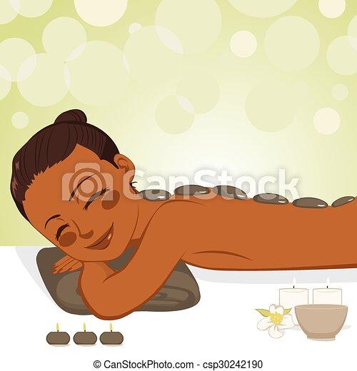 pierre, délassant, masage - csp30242190