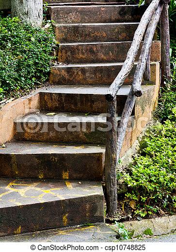 Escalier De Jardin En Pierre. Top Escalier Jardin Quelles Sont Les ...