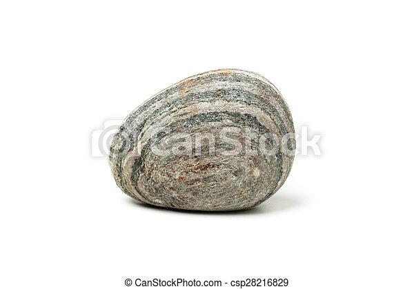 pierre, fond blanc - csp28216829