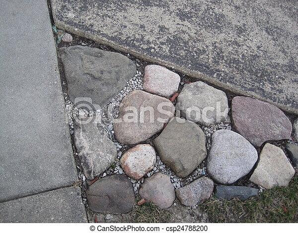pierre, hdr, jardin - csp24788200