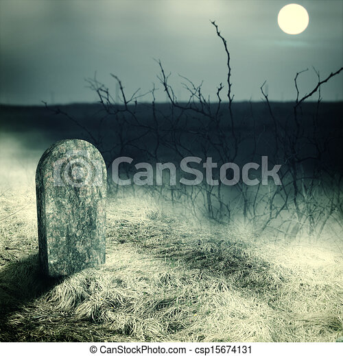 Pierre tombale cimeti re vieux pierre tombale entiers vieux cemetery minuit lune - Pierre tombale dessin ...