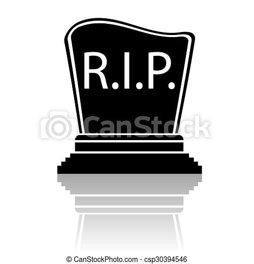 Pierre tombale noir silhouette pierre tombale silhouette isol arri re plan noir blanc - Pierre tombale dessin ...