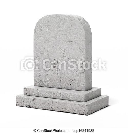 Pierre tombale vide pierre tombale render isol arri re plan vide blanc 3d - Pierre tombale dessin ...