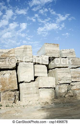 pierre, travertin, blocks. - csp1496878
