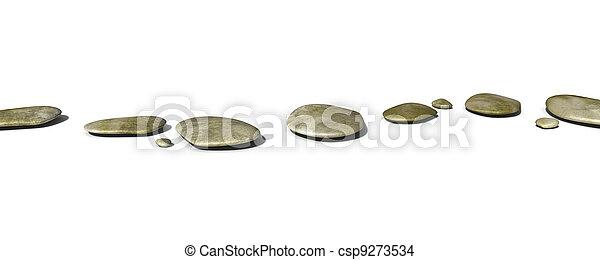 pierres, étape, blanc - csp9273534