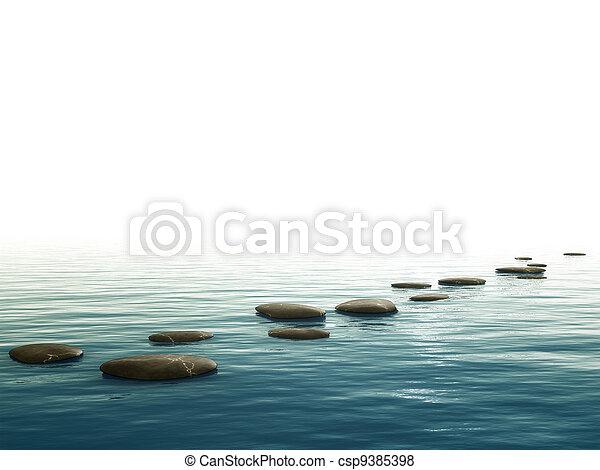 pierres, étape, fond - csp9385398