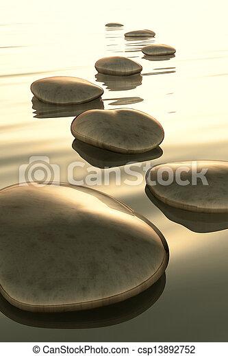 pierres, étape - csp13892752