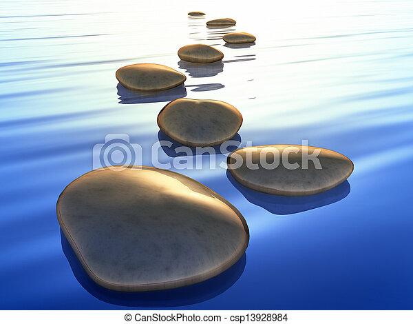pierres, étape - csp13928984