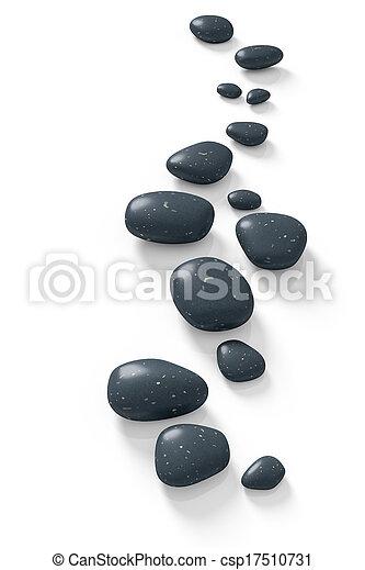 pierres, étape - csp17510731