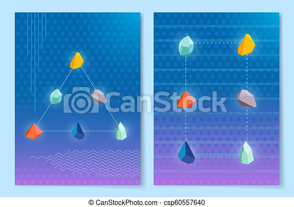 pierres, ensemble, illustration, formes, vecteur, confection - csp60557640