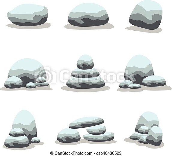 pierres, ensemble, naturel, collection - csp40436523