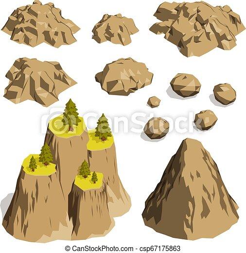 pierres, montagnes, rochers - csp67175863