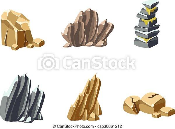 pierres, textures, rochers - csp30861212