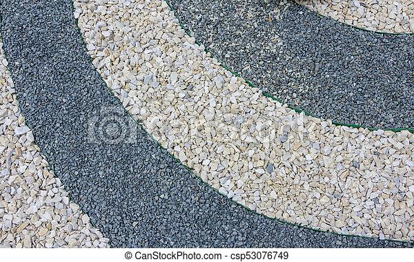 pierres, usage, jardin, création, japonaise, galets, chips, marbre