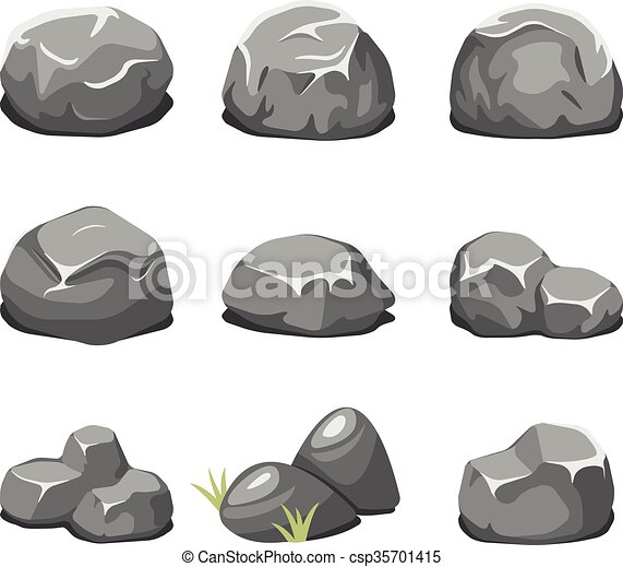 Pierres vecteur dessin anim rochers pierres rocher naturel nature illustration rochers - Rocher dessin ...