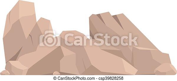 pierres, vecteur, illustration, rochers - csp39828258