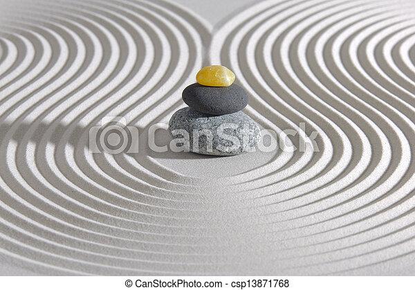 pierres, zen, empilé, japonais jardin - csp13871768