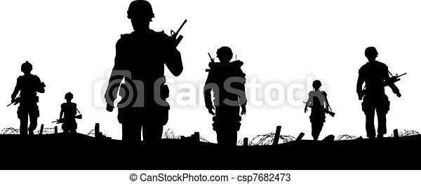 pierwszy plan, żołnierz - csp7682473