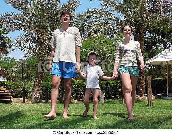 pieszy, trawa rodzina - csp2329381