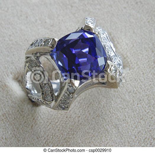 pietra blu, anello - csp0029910