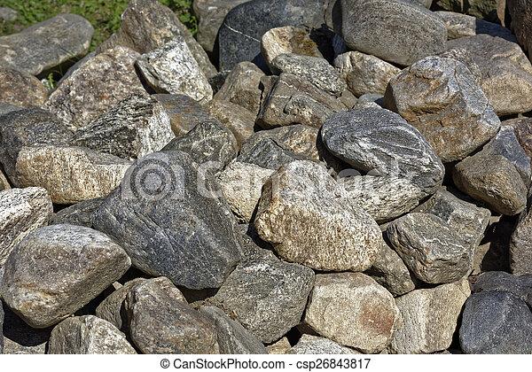 pietra, ciottoli, fondo - csp26843817