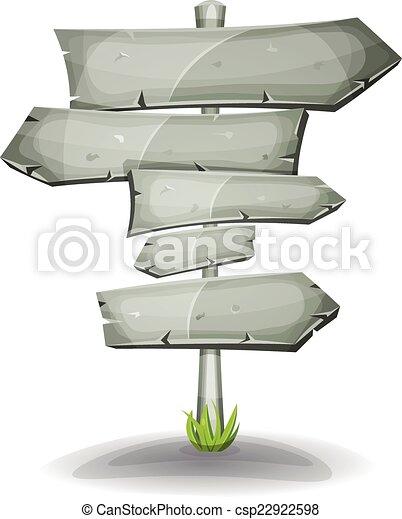 pietra, frecce, strada firma - csp22922598