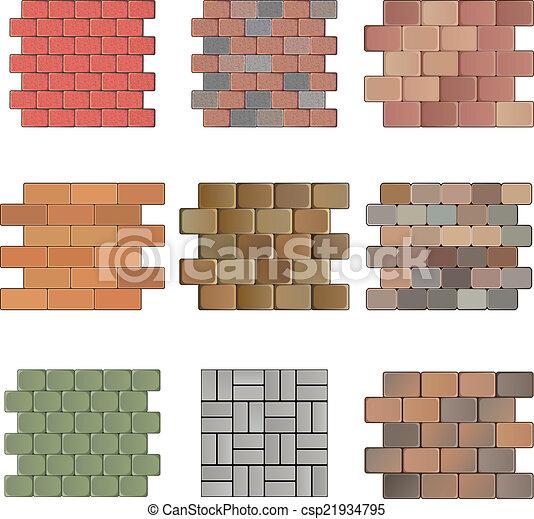 pietra, pavimentazione - csp21934795