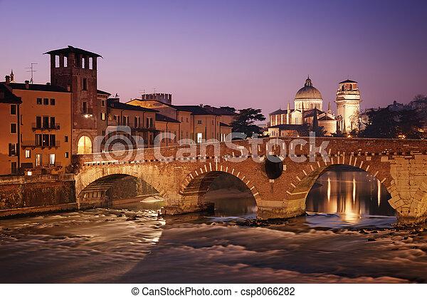 pietra, -, ponte, italia, verona - csp8066282