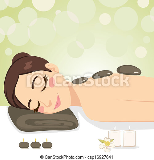 pietra, rilassante, massaggio - csp16927641