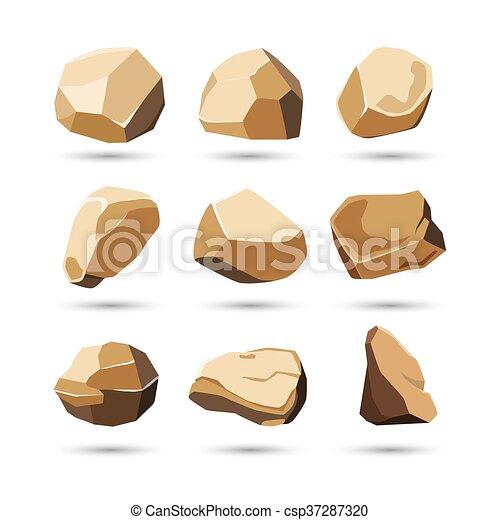pietra, set, roccia - csp37287320