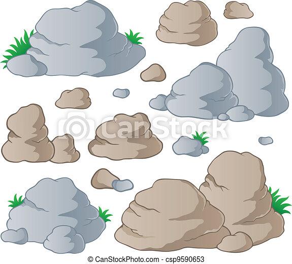 pietre, 1, vario, collezione - csp9590653