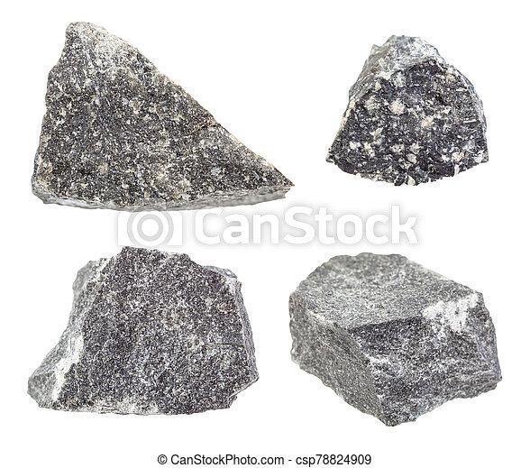 pietre, set, andesite, isolato, bianco - csp78824909