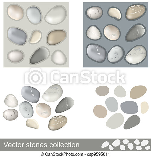 pietre, vettore, collezione - csp9595011