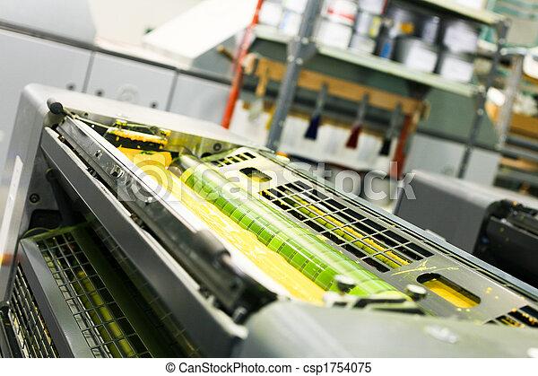pieza de la máquina, impresión, compensación - csp1754075
