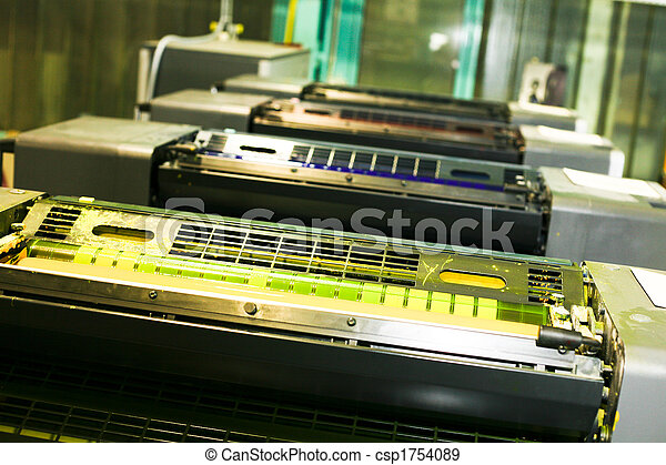 Parte de la máquina de imprimir - csp1754089