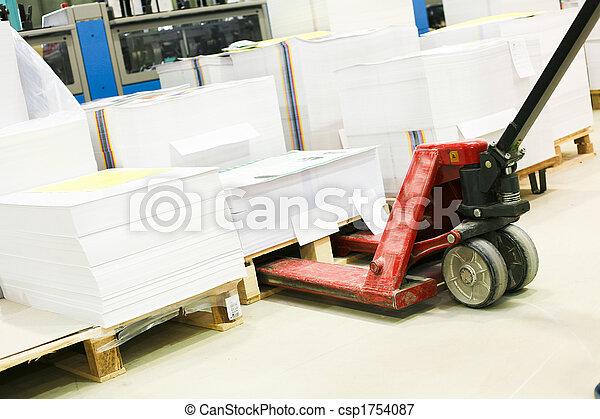 pieza de la máquina, impresión, compensación - csp1754087