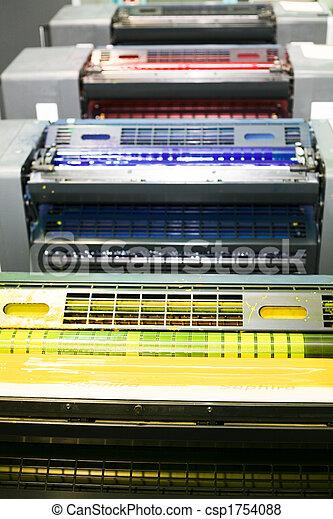 pieza de la máquina, impresión, compensación - csp1754088