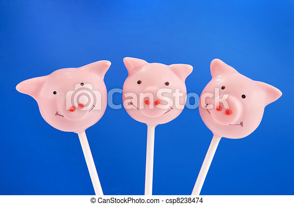 Pig cake pops - csp8238474