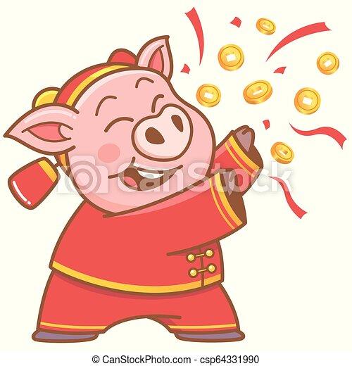 Pig cartoon - csp64331990