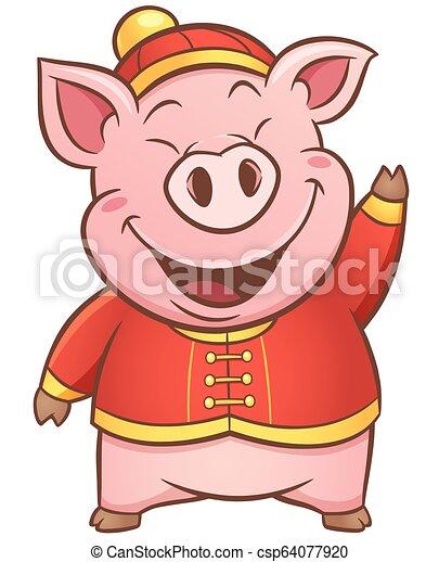 Pig cartoon - csp64077920