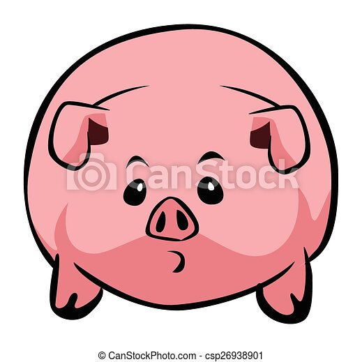 Pig cartoon simple - csp26938901