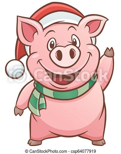 Pig cartoon - csp64077919