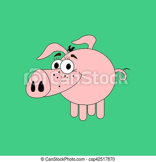 Pig illustration vector - csp42517870