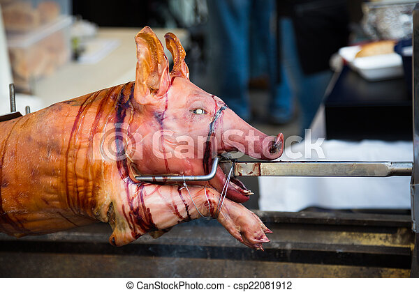 Pig on a Spit - csp22081912